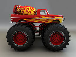 3d model monster truck pick cgtrader