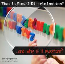 pre k visual discrimination printables
