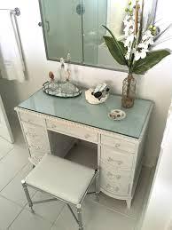 glass top vanity table makeup vanity with glass top diy glass top makeup vanity liz marie