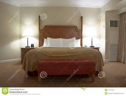 Schlafzimmer Lampe Und Nachttischlampe Schlafzimmer Mit Nachttischlampen Stockbild Bild 17210353