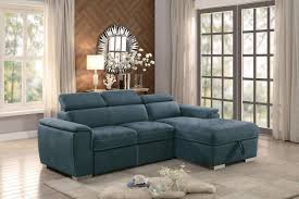 ferriday blue sofa chaise sleeper andrew u0027s furniture and mattress