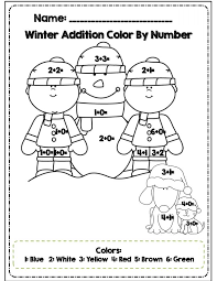 color by number pages for 1st grade eliolera com