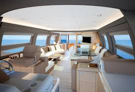 luxurious interior aboard ferretti 690 yacht photo credit