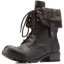 sweater lined foldover combat boots russe black sweater lined foldover combat boots by soda