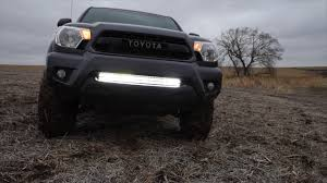 tacoma grill light bar tacoma hidden light bar youtube