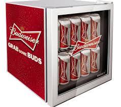 small beer fridge glass door husky el202 budweiser mini fridge red for him pinterest