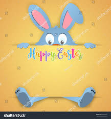 happy easter card rabbit ears easter stock vector 386261530