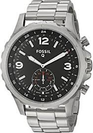 Fossil Machine 3 Hand Date Amazon Com Fossil Q Grant Gen 1 Hybrid Brown Leather Smartwatch