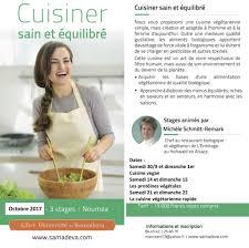 cuisiner sain cuisiner sain equilibré 3 stages en octobre mystikalidonie