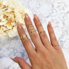 tea leaf ring set gold