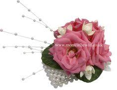 wedding flowers sheffield dimante wrist corsage pink wedding flowers by f hewitt