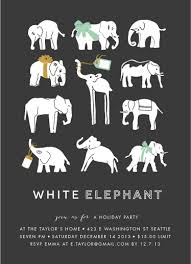 party invitations wrapped up white elephant at minted com