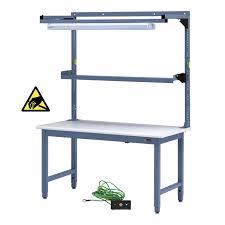 Workbench With Light Iac Steel Workbench W Overhead Light U0026 Utility Shelf 30 36