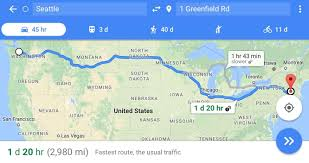 Google Maps Truck Route by Trucker On Drugs Drives Non Stop From Seattle To Massachusetts