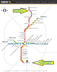 Marta Train Map Travel To From Atlanta Jetaa Usa