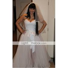 light in the box wedding dress reviews a line princess sweetheart floor length tulle custom wedding dresses