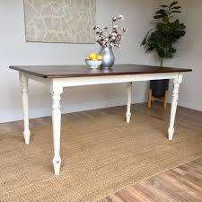 distressed kitchen table small white dining table country
