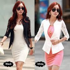 design of jacket suit 2018 2017 new fashion spring women jacket suits short design slim
