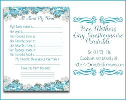 all about my mom questionnaire free printable for mother u0027s day