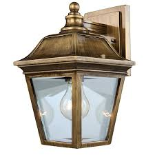 Antique Outdoor Lighting Shop Portfolio 12 In Antique Brass Outdoor Wall Light At Lowes Com