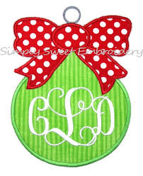 ornament with bow applique design