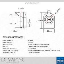 Replacement Shower Door Runners Bottom Glass Curved Shower Door Roller 6mm To 8mm Glass 22mm