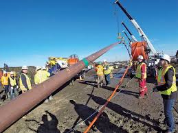 Banister Pipeline Construction Installing Fiber Via Hdd Under North Saskatchewan River