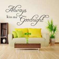 compare prices on wallpaper kids room online shopping buy low always kiss me goodnight wall sticker home bedroom decoration wallpaper kids room removable wall stickers wall