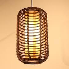 Pendant Light Lantern Discount Southeast Asia Handmade Rattan Restaurant Ceiling Pendant