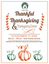 thanksgiving party flyer mcdonald county project care thanksgiving party clients only