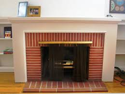 red brick fireplace makeover home fireplaces firepits how to