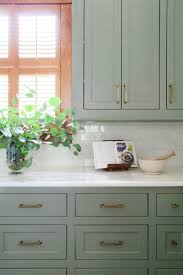 cabinet sage green paint kitchen impressive green painted