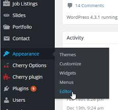 wordpress theme editor gone cherryframework 3 how to remove theme editor menu from the