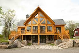 Walk In Basement Timber Block Insulated Log Homes Exceeds The Building Codes In