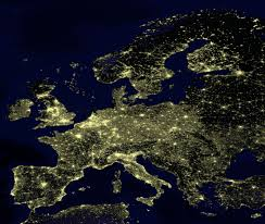 World At Night Map by Demographics Of The European Union Wikipedia