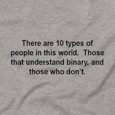 types of grays 10 types of people binary funny computer code coding tee t shirt