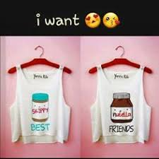 ladies best friends crop top tank top women fashion tshirt bff
