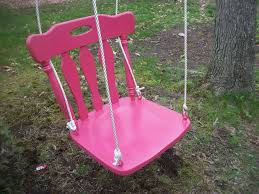 Chair Swing Homemade Swing Kitchen Chair Creative Pinterest Swings