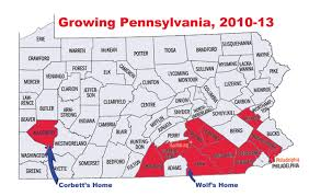 Map Pennsylvania Counties by Are Pennsylvania Population Changes Working Against Corbett