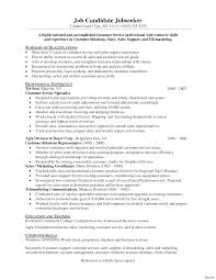 marketing resume summary of qualifications exle for resume customer service summary of qualifications resume vesochieuxo