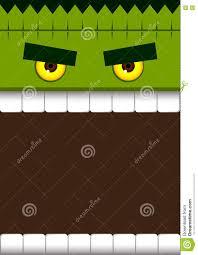 halloween background dental frankenstein face monster halloween background stock vector