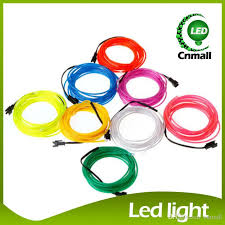 online cheap 5m led neon sign neon light glow el wire led strip