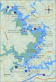 Lake Victoria Map Lake Allatoona Miles 96 U2013 114