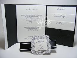 Pocket Wedding Invites Tri Fold Pocket Wedding Invitations 7759