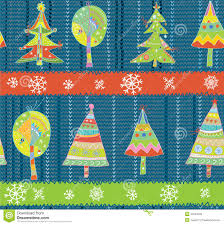 christmas trees seamless winter knitting pattern royalty free