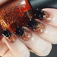 glitter gradient nail finger paint