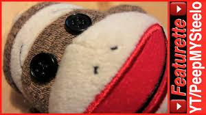 Sock Monkey Fabric Original Sock Monkey Fabric Stuffed Animal Plush Doll For Kids