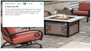 Patio Furniture With Gas Fire Pit by Gas Fire Pit 5 Piece Patio Furniture Youtube
