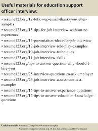 Resume Sample For Education by Top 8 Education Support Officer Resume Samples