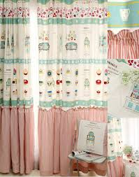 eco friendly patterned print baby curtains and window treatments